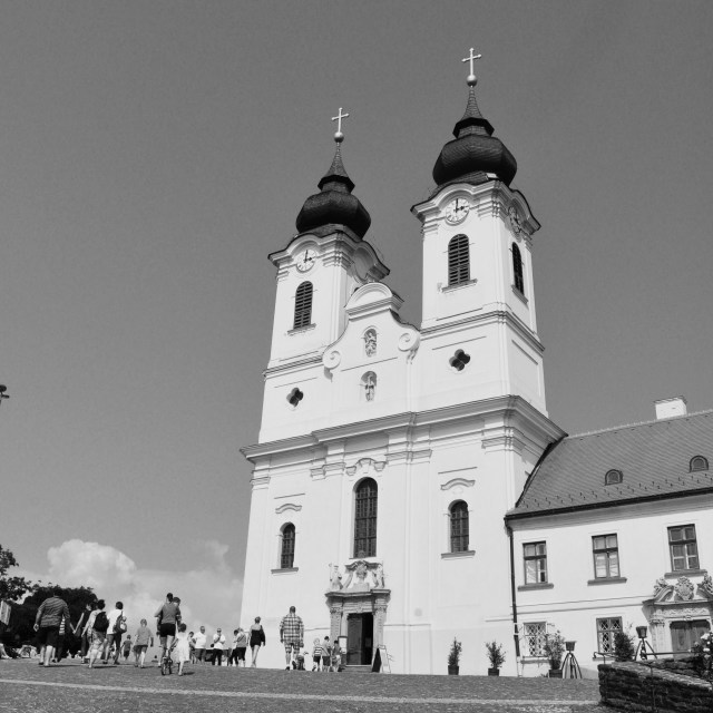 """Tihany Abbey"" stock image"