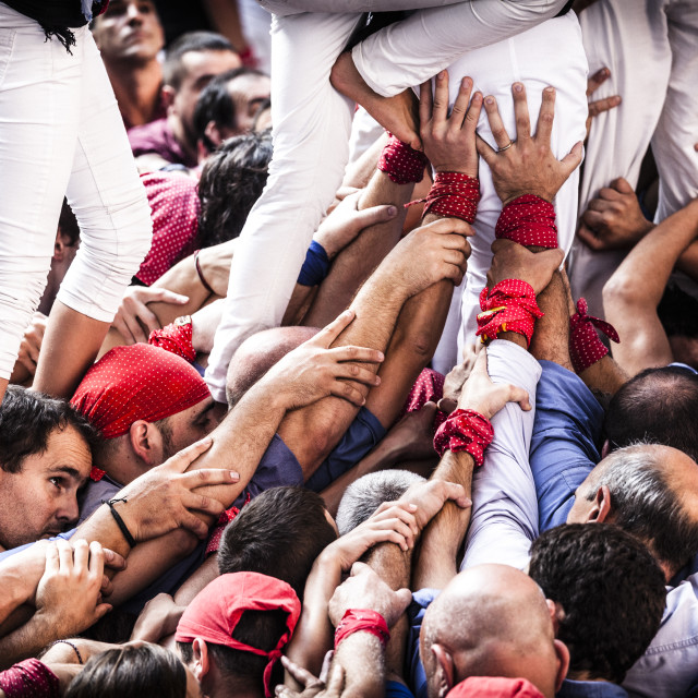 """Castellers"" stock image"
