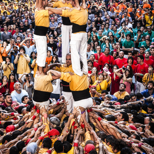 """""""Castellers"""" stock image"""