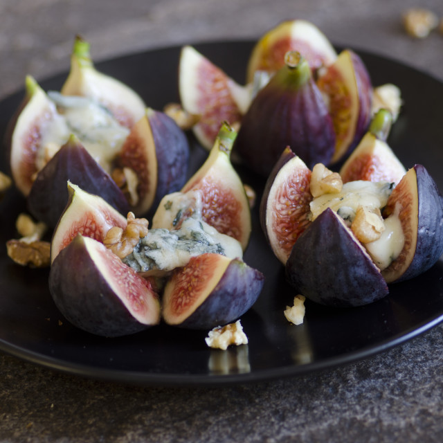 """""""Grilled figs"""" stock image"""