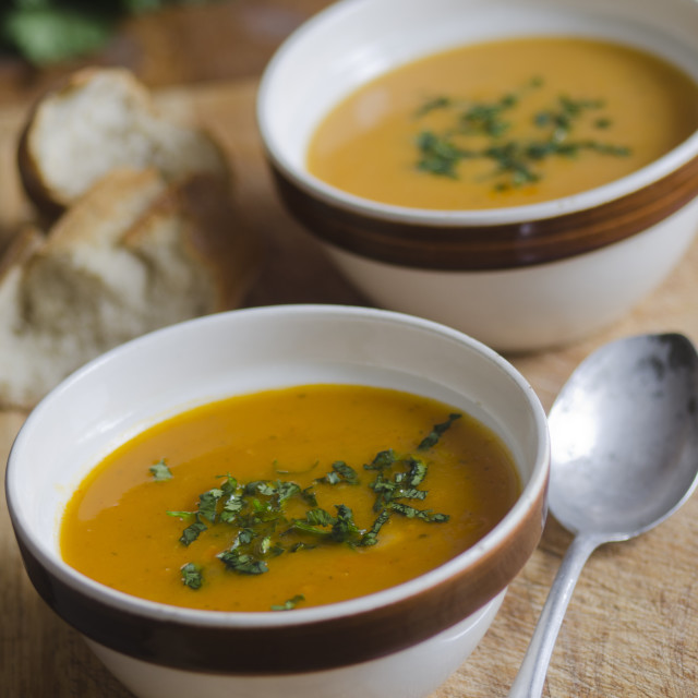 """Carrot soup"" stock image"