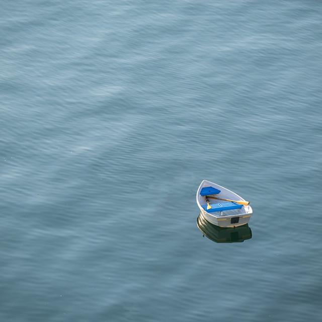 """Solitude boat"" stock image"