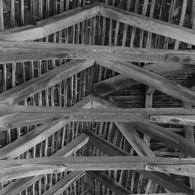 """Roof trusses"" stock image"