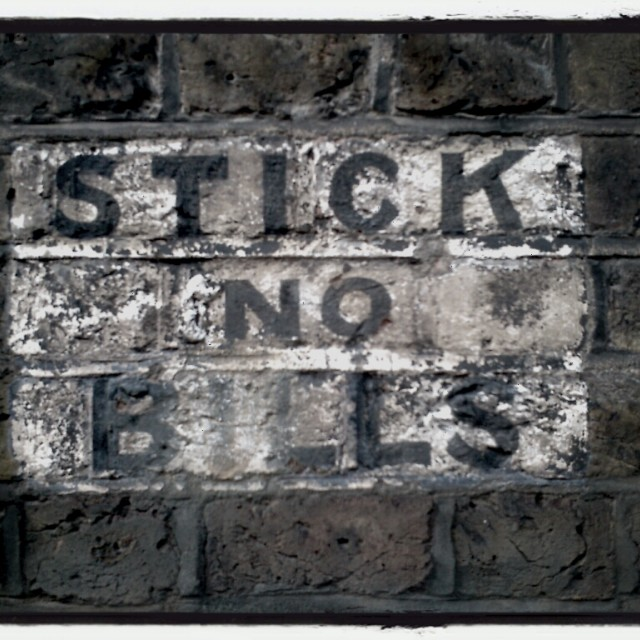"""Stick no bills"" stock image"