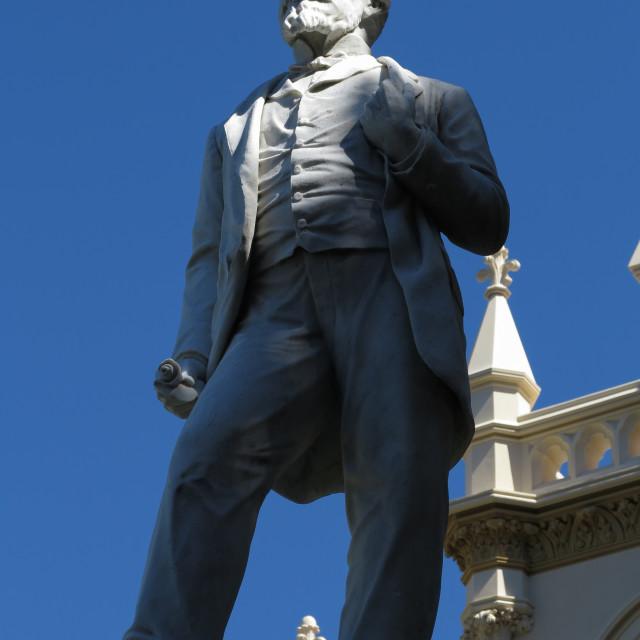"""John Ballance statue"" stock image"