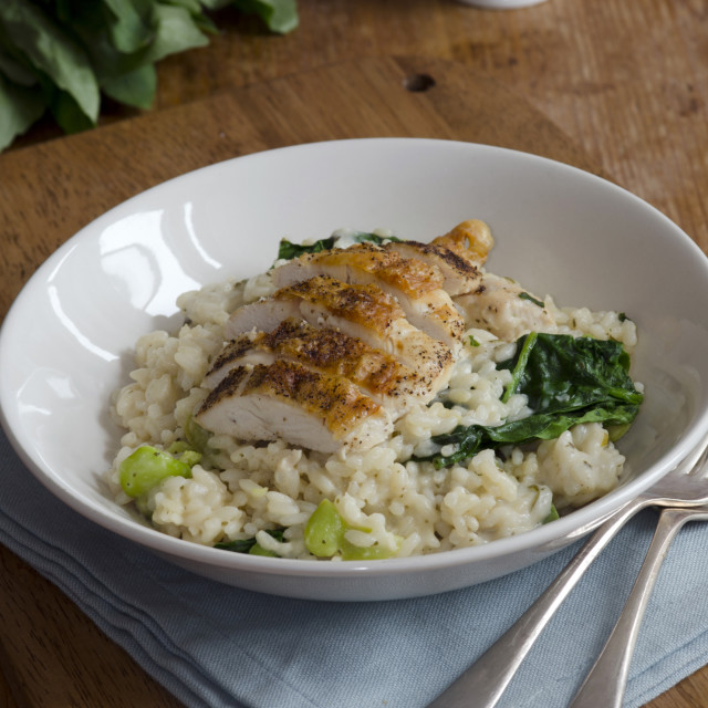 """Chicken with risotto"" stock image"