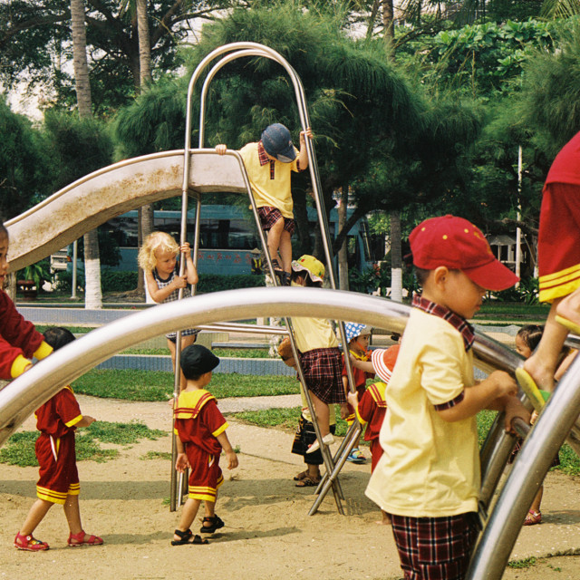 """Children at Play"" stock image"