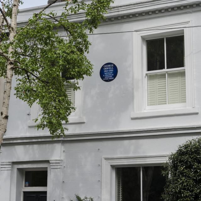"""George Orwell lived here"" stock image"