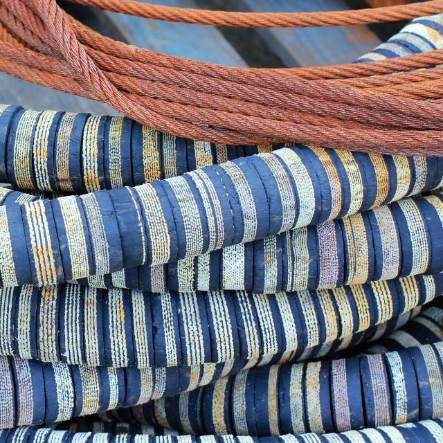 """Stripey Fishing Rope"" stock image"