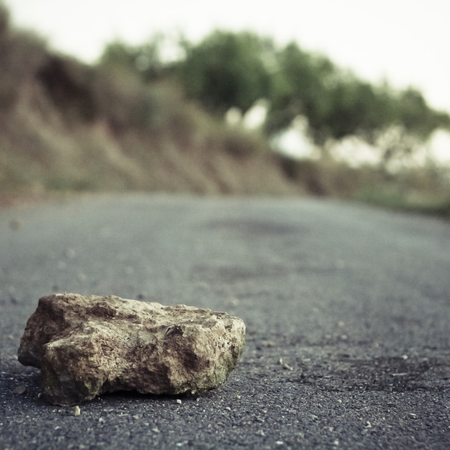"""""""The stone of the road"""" stock image"""