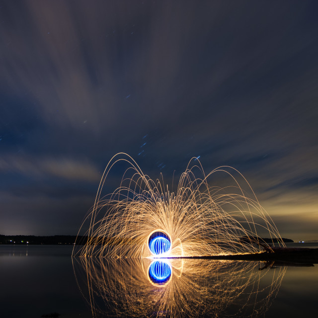"""Night Lights #129 - Playing With Fire"" stock image"