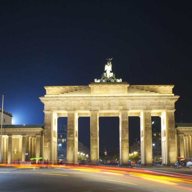 """Brandenburger Tor am Nacht"" stock image"