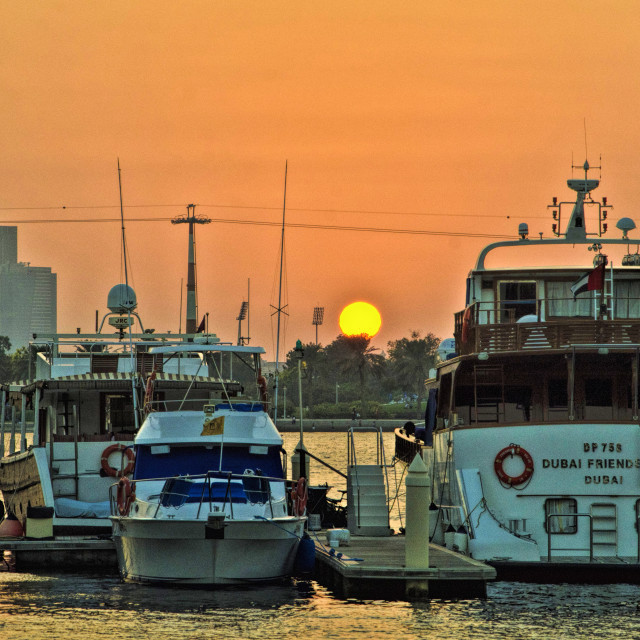 """Sundown along the Creek"" stock image"