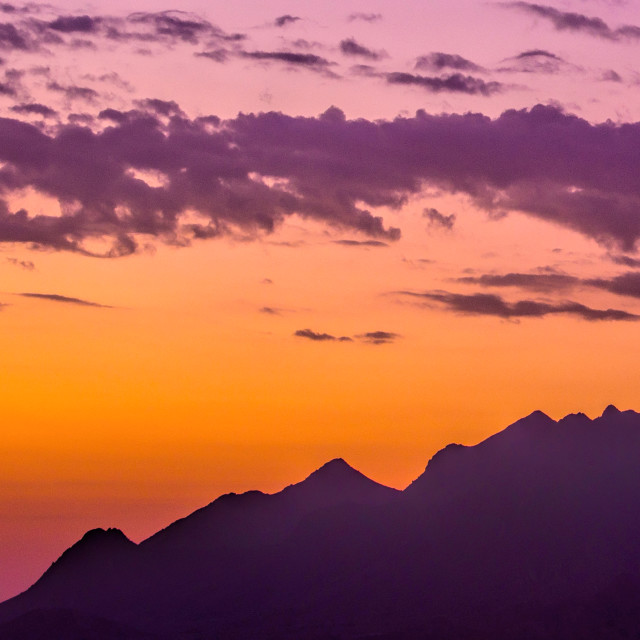 """""""Sunrise in the mountains"""" stock image"""