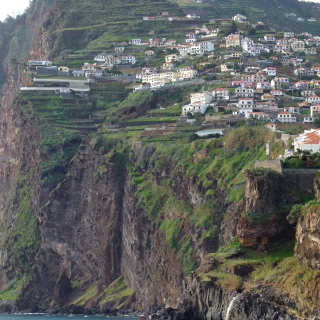 """Madeira cliffs"" stock image"
