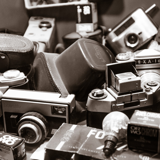 """Old DDR Cameras"" stock image"