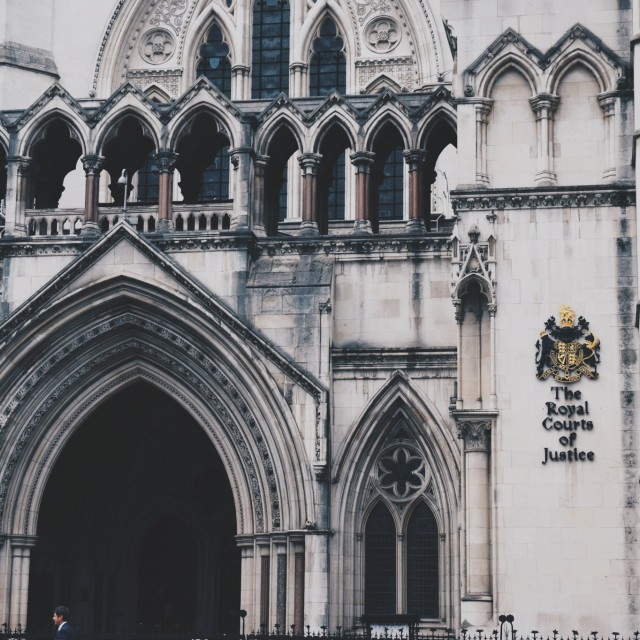 """""""The Royal Courts of Justice"""" stock image"""