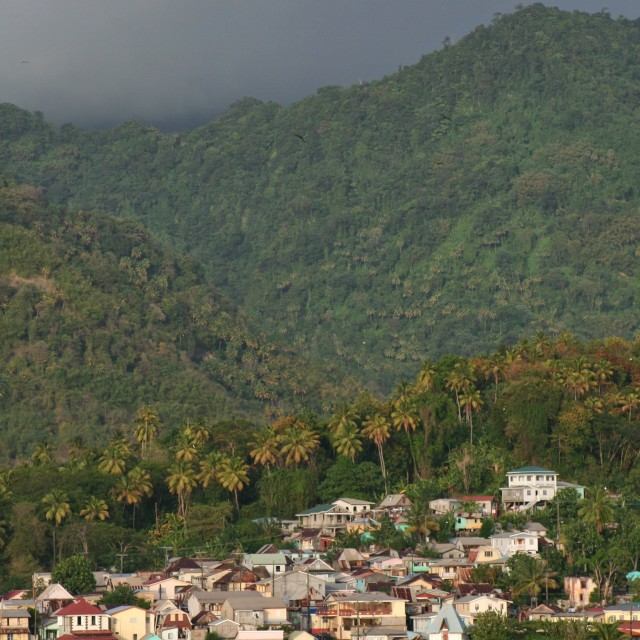 """""""St Lucia, Soufriere Bay"""" stock image"""