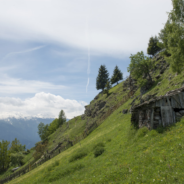 """Steep Mountain Side - The Alps"" stock image"
