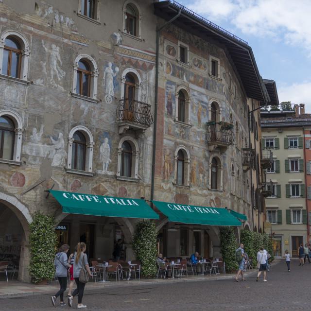 """Building Art - Trento - Italy"" stock image"