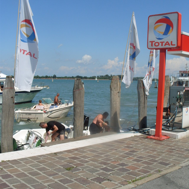 """Boat filling station"" stock image"