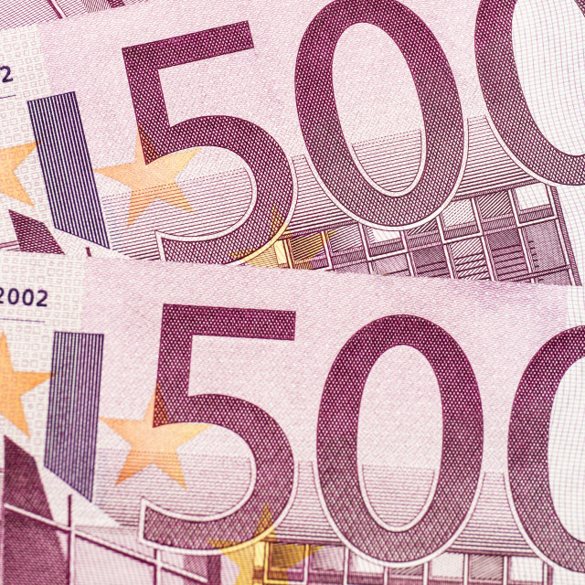 """500 euro banknotes"" stock image"