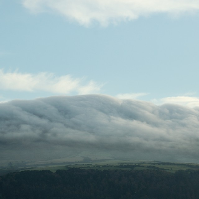 """Manannan's cloak, mountain mist"" stock image"