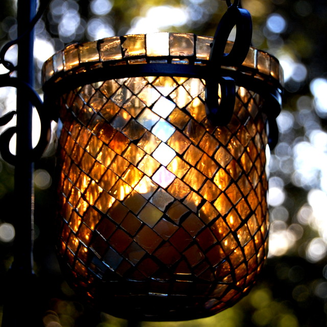 """""""Sunlight Candle Catcher"""" stock image"""