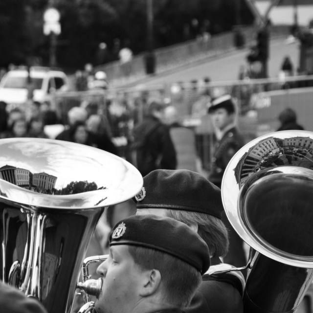 """Tuba Reflection"" stock image"