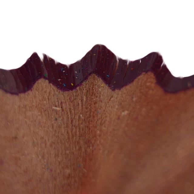 """Purple pencil shavings isolated"" stock image"