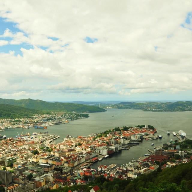 """""""Fløyen View"""" stock image"""