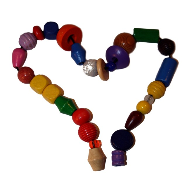 """""""Home made heart shaped necklace"""" stock image"""