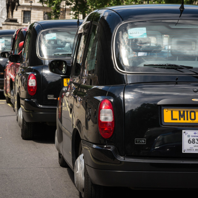 """London Taxis"" stock image"