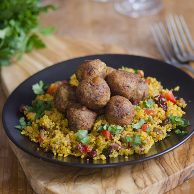 """Falafels with couscous"" stock image"