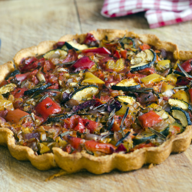 """Roasted vegetable tart"" stock image"