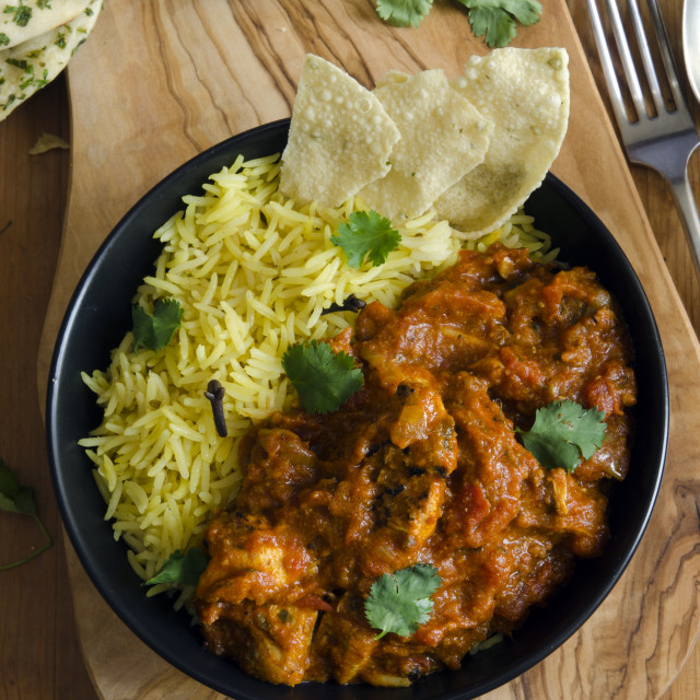 """Jalfrezi with rice"" stock image"
