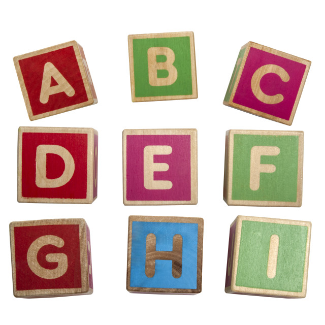 """Alphabet blocks"" stock image"