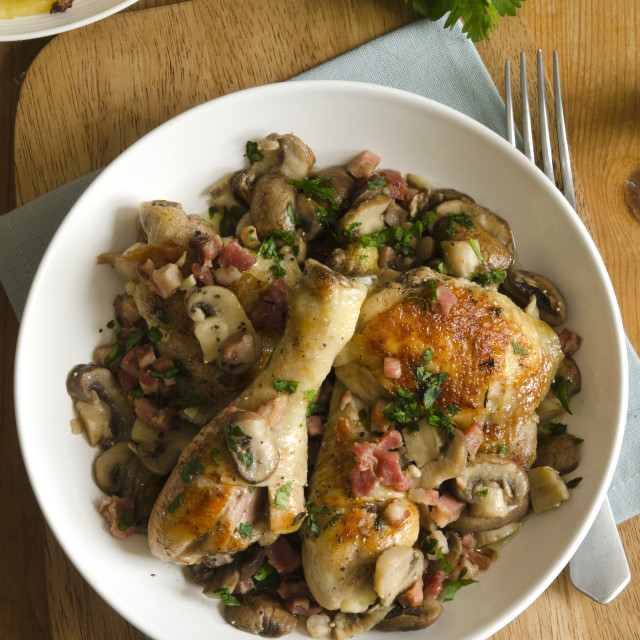 """""""Chicken Fricassee"""" stock image"""