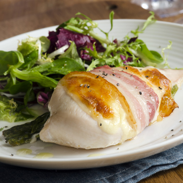 """""""Chicken with salad"""" stock image"""