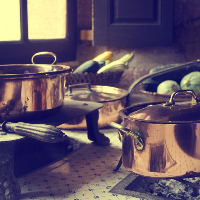 """17th century cooking"" stock image"