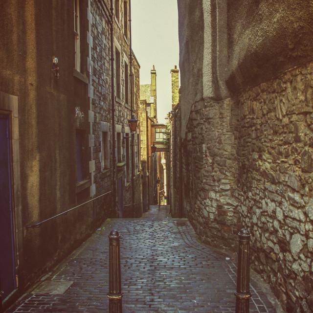 """Alley in Edinburgh"" stock image"