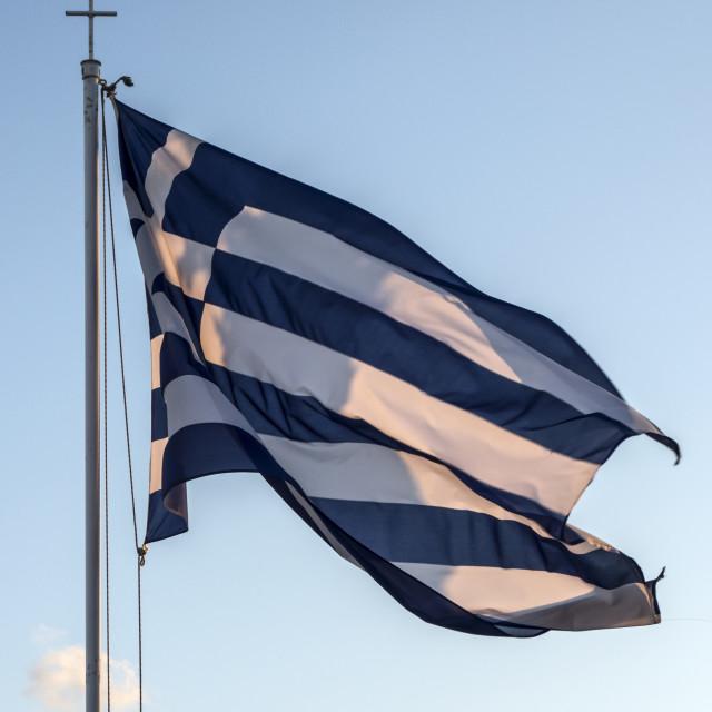 """National flag of Greece"" stock image"