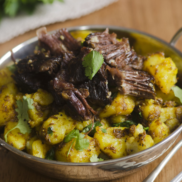 """""""Beef With Spiced Potatoes"""" stock image"""