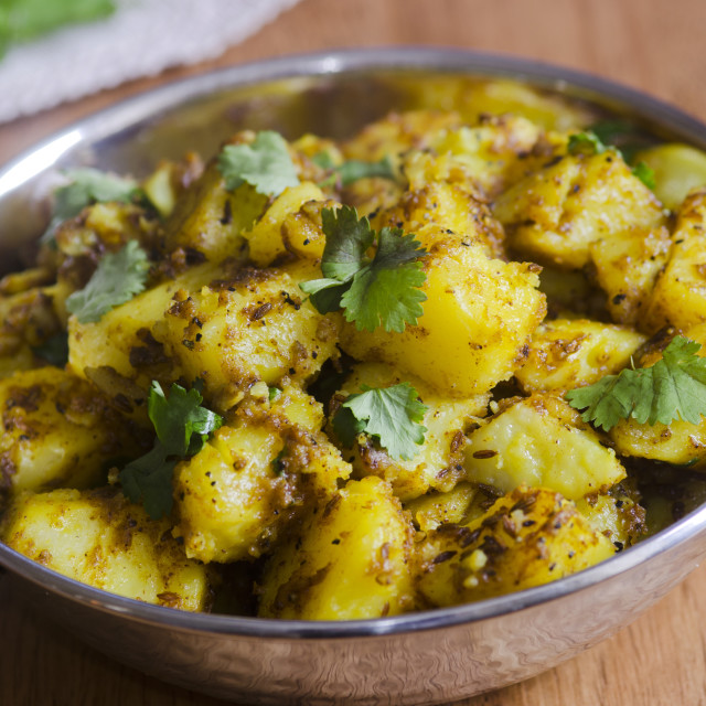 """""""Spiced Potato Curry"""" stock image"""