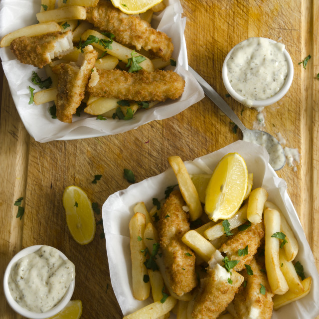 """Fish And Chips"" stock image"
