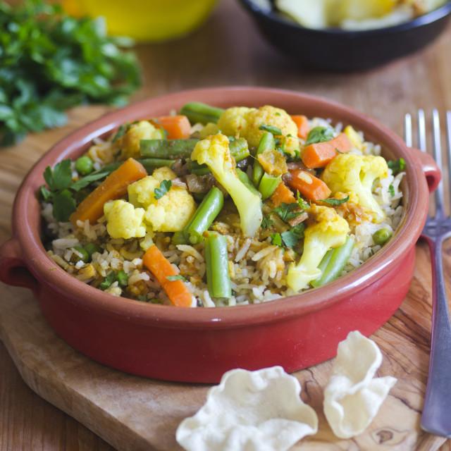 """""""Vegetable Biryani"""" stock image"""