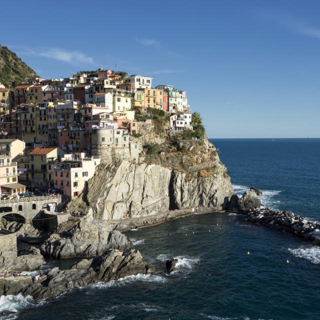 """""""landsacpe of Manarola, Cinque Terre"""" stock image"""