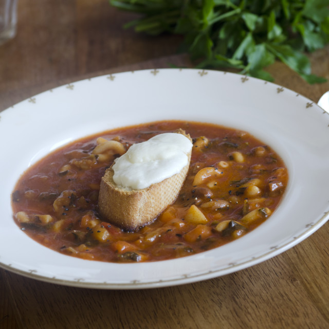 """""""Minestrone soup"""" stock image"""