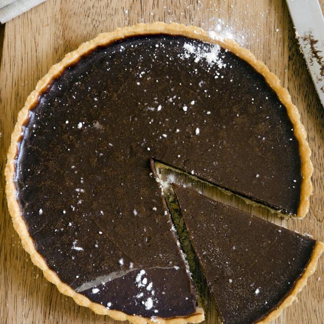 """""""Chocolate tart"""" stock image"""