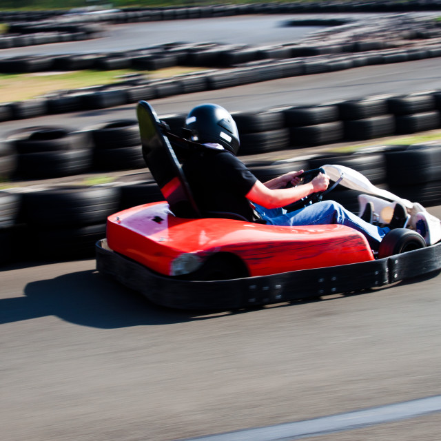 """Kart Race"" stock image"